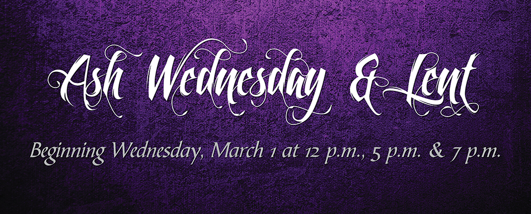 ash wed and lent 2017