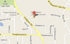 Maps and Directions to Incarnation Lutheran