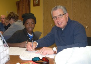 Dennis Erno tutoring at Solid Ground